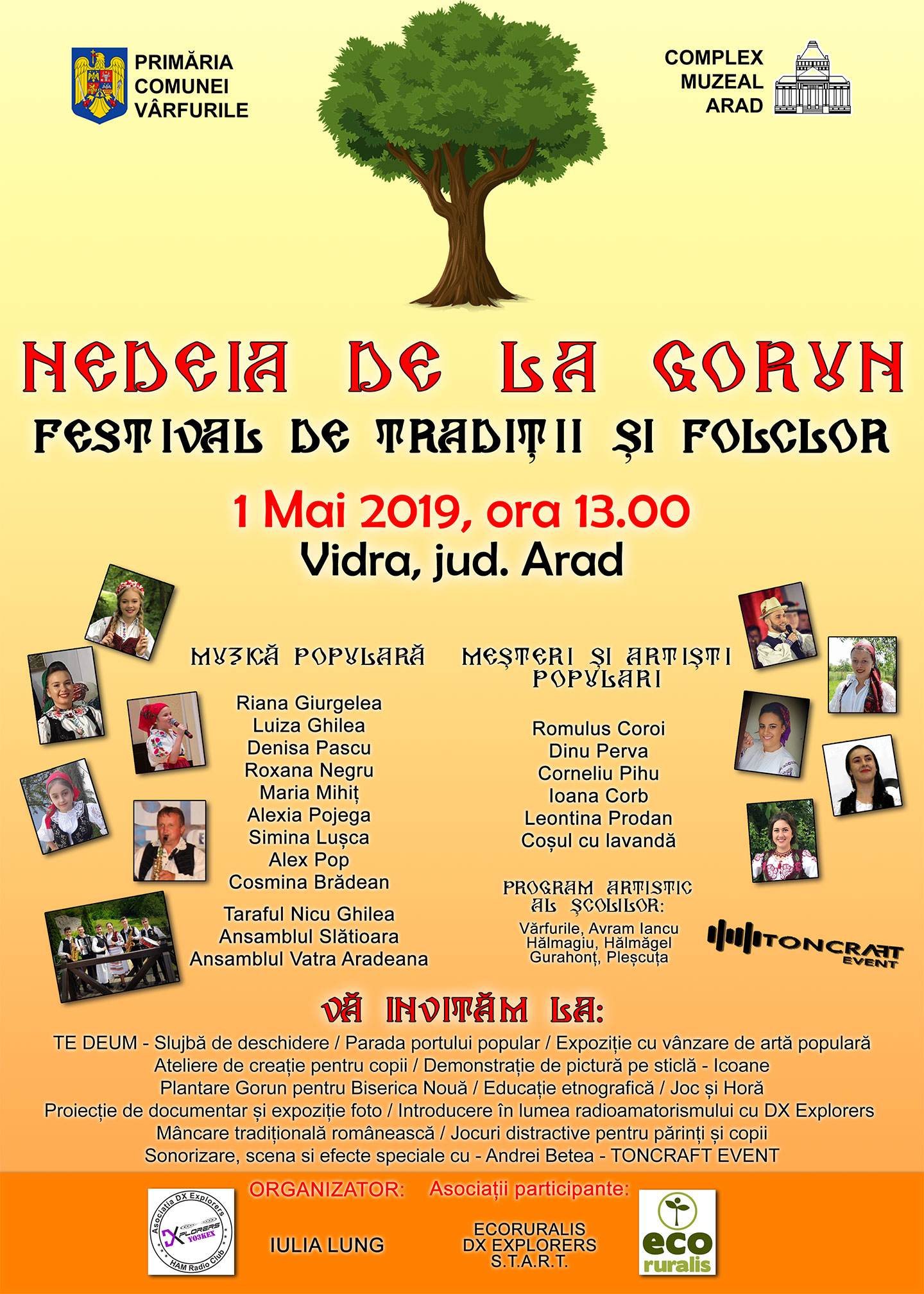 eveniment Vidra Arad 1 mai 2019