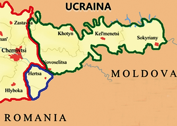 Români și teritorii lăsate în afara granițelor țării: Bucovina de Nord, Herța, Hotin și Bugeac